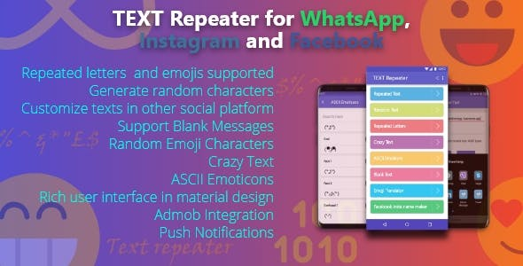 Text Repeater: Stylish Text Converter for Whatsapp, Instagram and Facebook