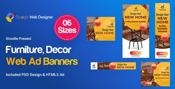 C02 - Furniture, Decor Banners Ad GWD & PSD