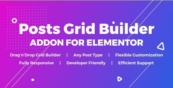 Posts Grid Builder for Elementor - CodeCanyon Item for Sale