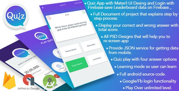Play Quiz (Material Design)