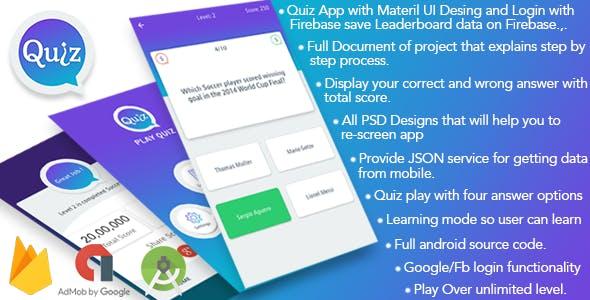 Play Quiz (Material Design)