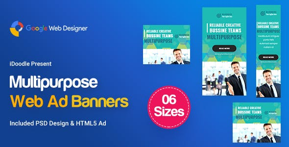 C08 - Multipurpose, Business Banners GWD & PSD
