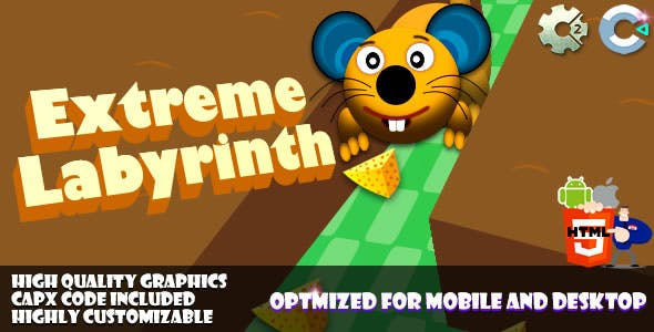 Extreme Labyrinth (C2,C3,HTML5) Game