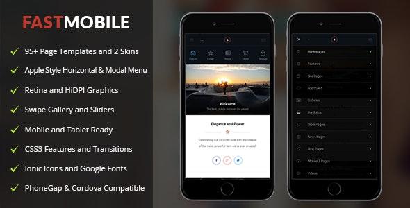 FastMobile Mobile | PhoneGap & Cordova Mobile App - CodeCanyon Item for Sale