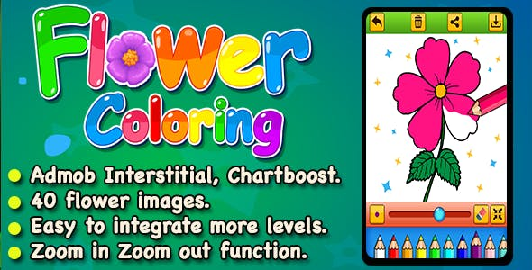 Top Flower Coloring Book For Kids And Adult For IOS