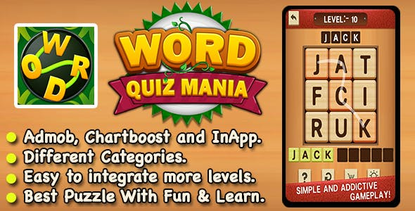 Word Puzzle Mania + Best Word Trivia Puzzle Game IOS