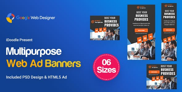 C10 - Multipurpose, Business, Startup Banners GWD & PSD