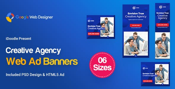 C12 - Creative Agency, Startup Banners GWD & PSD