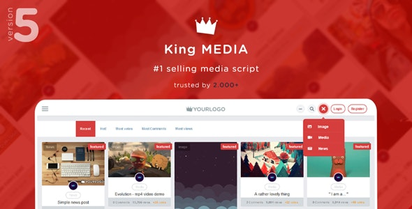 King Media - Viral Magazine News Video Image by RedKings | CodeCanyon