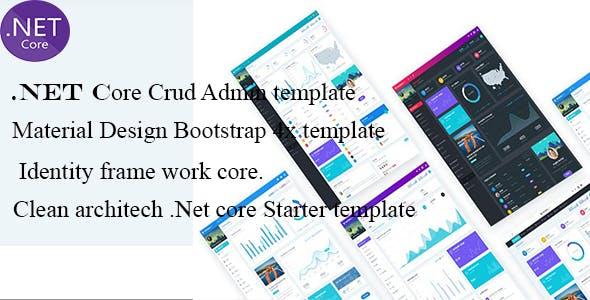 NET Core 2x Admin Material Pro (Starter Kit)