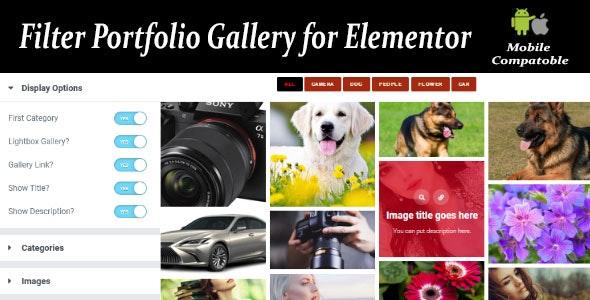 Filter Portfolio Gallery for Elementor