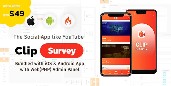 Clip Survey - Social App like YOUTUBE for survey purpose