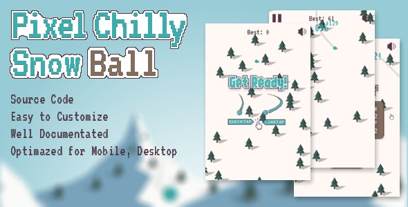 Pixel Chilly Snow Ball - CodeCanyon Item for Sale