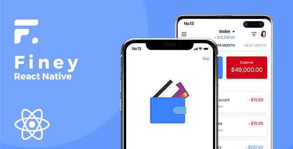 Finey - React Native Cash Manager Template - CodeCanyon Item for Sale