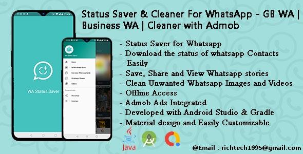 Status Saver & Cleaner For WhatsApp - GB WA | Business WA | Cleaner