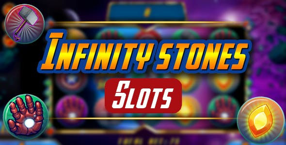 Infinity stones - slot machine 2019, html5 game, AdMob