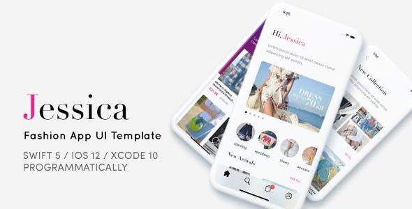 Jessica, Fashion App UI Template - Programmatically by