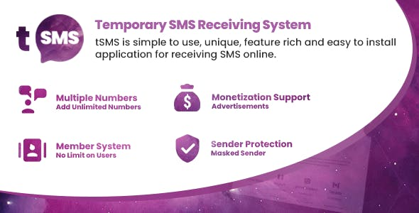 tSMS - Temporary SMS Receiving System - CodeCanyon Item for Sale