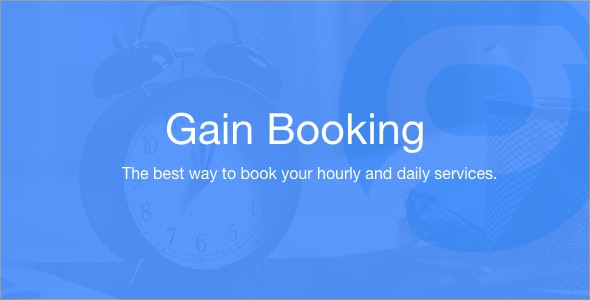 Gain Booking - CodeCanyon Item for Sale