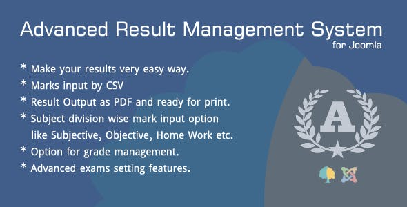 Advanced Result Management System for Joomla