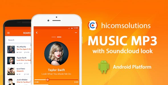 Music App with Soundcloud Look - Android App