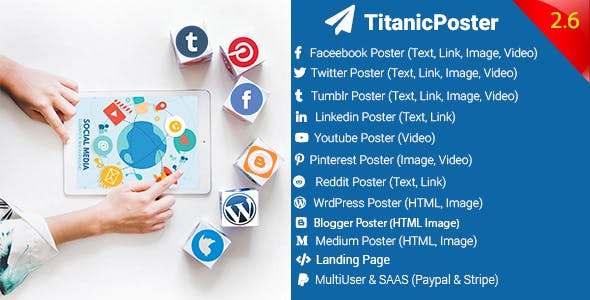 TitanicPoster - Social Media Posting Solution
