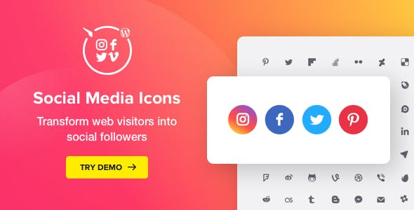 WordPress Social Media Icons – Social Icons Plugin