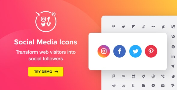 Social Media Icons WordPress – Social Icons Plugin - CodeCanyon Item for Sale