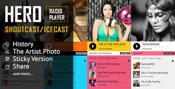 Hero - Shoutcast and Icecast Radio Player With History