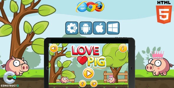Love Pig - Html5 Game (CAPX)
