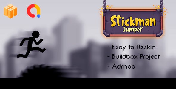 Stickman Jumper Game Template Buildbox + Admob