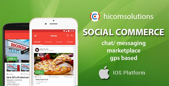Social Commerce Marketplace iOS App