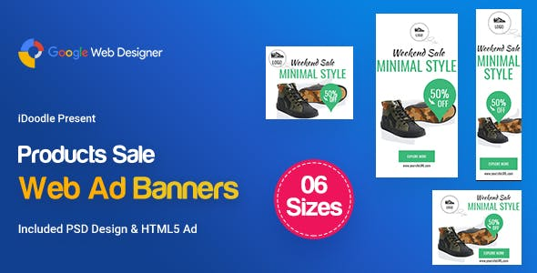 C16 - Product Sale Banners HTML5 Ad GWD & PSD