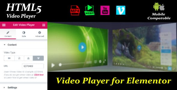 Video Player for Elementor