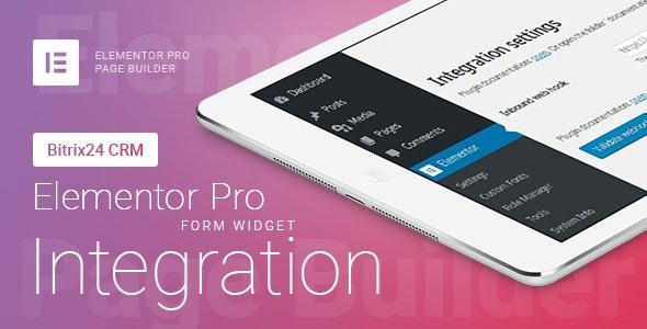 Elementor Pro Formular-Widget - Bitrix24 CRM - Integration Plugin