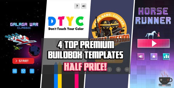 4 Premium Buildbox Game Templates (Android)