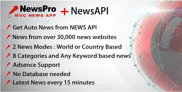 News, Magazine, News API, MVC Application, Breaking News App, Tpo Headlines App, Trending News App - CodeCanyon Item for Sale