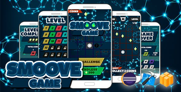 Smoove Game Android iOS Buildbox with Admob Ads