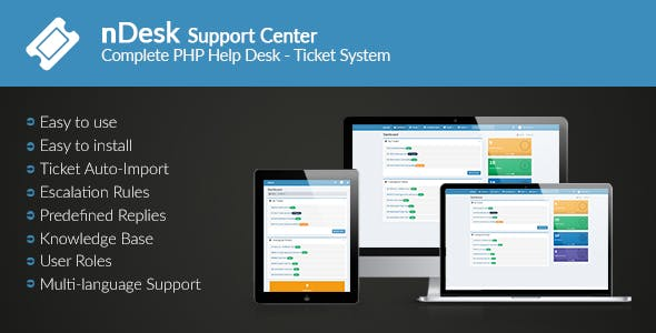 nDesk Support Center - Ticket System