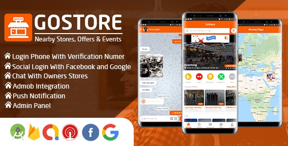 GoStore - Nearby Stores, Offers & Events With Admin Panel - CodeCanyon Item for Sale