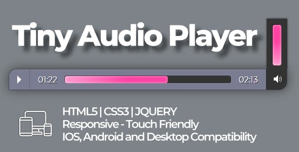 Tiny Audio Player (HTML5|CSS3|JQUERY)