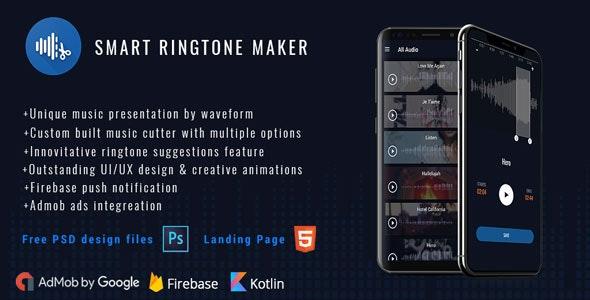 Smart Ringtone maker ( PSD files + Landing Page) - CodeCanyon Item for Sale