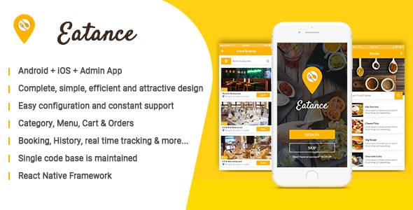 Eatance - Restaurant and Food Delivery App by evince_dev