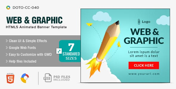 Design Agency HTML5 Banners - 7 Sizes