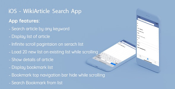 iOS - WikiArticle Search App - CodeCanyon Item for Sale