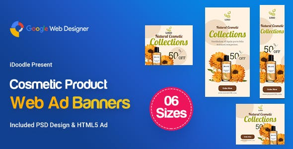 C18 - Cosmetic Banners HTML5 - GWD & PSD