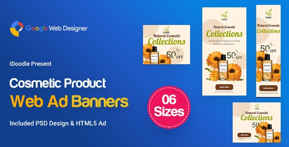 C18 - Cosmetic Banners HTML5 - GWD & PSD - CodeCanyon Item for Sale