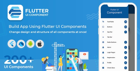 Flutter UI Component - Build App Using Material Design UI Kit by