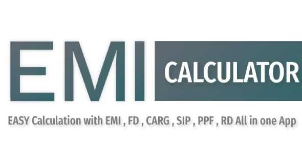 EMI Calculator App - CodeCanyon Item for Sale