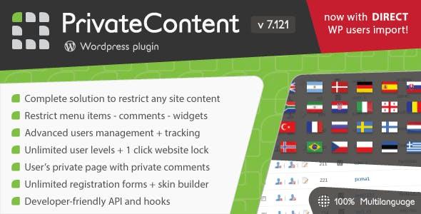 PrivateContent - Multilevel Content Plugin        Nulled